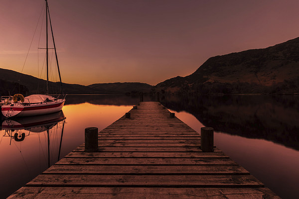 Ullswater Boat Canvas print by Simon Saunders