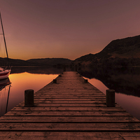 Buy canvas prints of Ullswater Boat by Simon Saunders