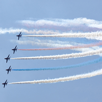 Buy canvas prints of Red Arrows display by Paul Nicholas