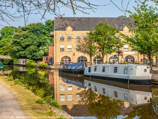 Hebden Bridge canal Canvas Print by Paul Nicholas