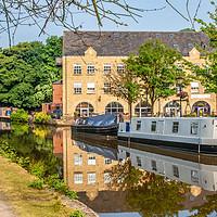 Buy canvas prints of Hebden Bridge canal by Paul Nicholas