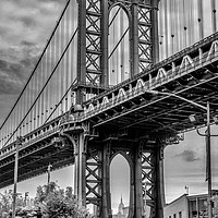 Buy canvas prints of Manhattan Bridge and the Empire State Building by Paul Nicholas