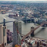Buy canvas prints of Two bridges in New York by Paul Nicholas