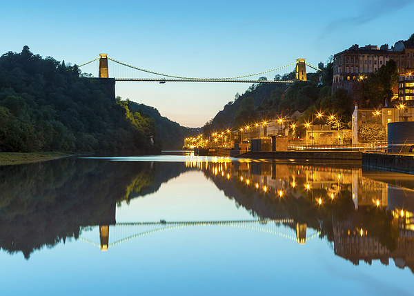 Clifton Suspension Bridge, Bristol, evening, seen  Canvas print by Daugirdas Tomas Racys