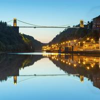 Buy canvas prints of Clifton Suspension Bridge, Bristol, evening, seen  by Daugirdas Tomas Racys