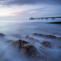 Buy canvas prints of Clevedon pier, UK, evening by Daugirdas Tomas Racys
