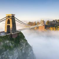 Buy canvas prints of Cloud Inversion at Clifton Bridge, Bristol by Daugirdas Toma Racys