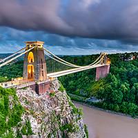 Buy canvas prints of Stormy Clifton Bridge, Bristol by Daugirdas Racys