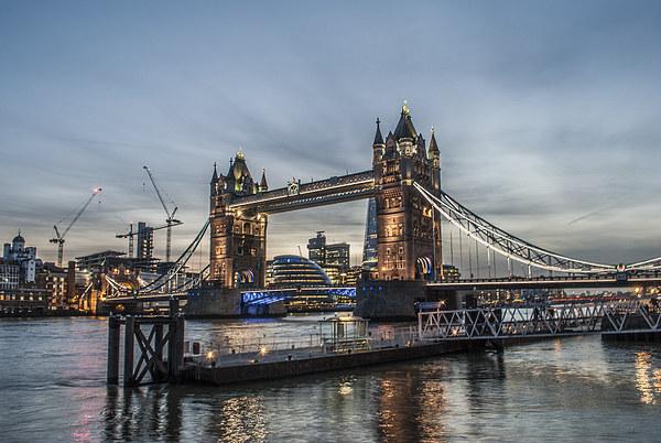 Tower Bridge, London Canvas print by Terry Rickeard