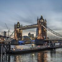 Buy canvas prints of Tower Bridge, London by Terry Rickeard