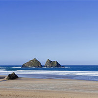 Buy canvas prints of Holywell Bay Cornwall by Mike Gorton