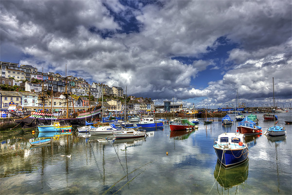 Brixham Inner Harbour Canvas print by Mike Gorton