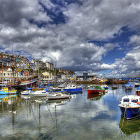 Buy canvas prints of Brixham Inner Harbour by Mike Gorton