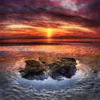 Buy canvas prints of Westward Ho! Sunset by Mike Gorton