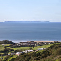 Buy canvas prints of Lundy Over Woolacombe by Mike Gorton