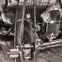 Buy canvas prints of From The Bicycle To The Car by Mike Gorton