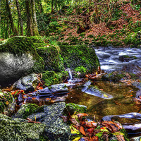 Buy canvas prints of Rocky Waters Watersmeet by Mike Gorton