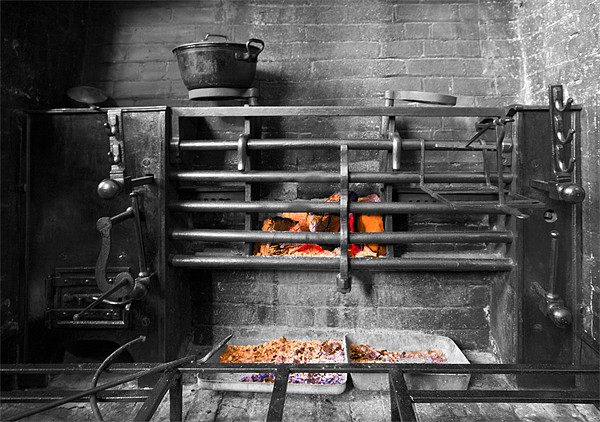 Victorian Cast Iron Cooking Range Acrylic by Mike Gorton