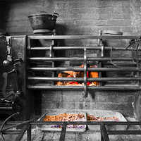 Buy canvas prints of Victorian Cast Iron Cooking Range by Mike Gorton