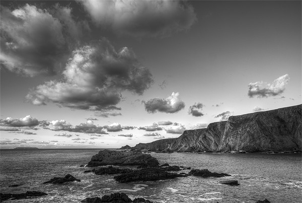 Clouds Over Hartland Quay Framed Print by Mike Gorton