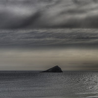 Buy canvas prints of Storm Over The Mewstone by Mike Gorton