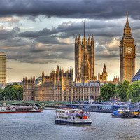 Buy canvas prints of Sun Setting on Big Ben London by Mike Gorton