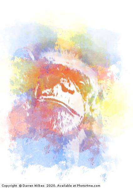 Chimpanzee Pop Art Print by Darren Wilkes