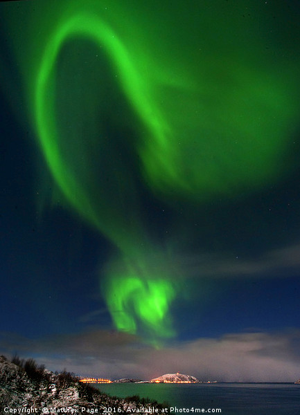 Tromso Aurora Canvas print by Matthew Page