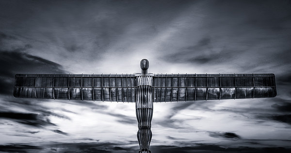 The Angel of the North Canvas print by Guido Parmiggiani