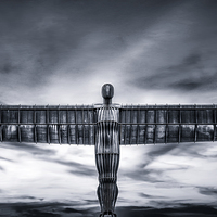 Buy canvas prints of The Angel of the North by Guido Parmiggiani