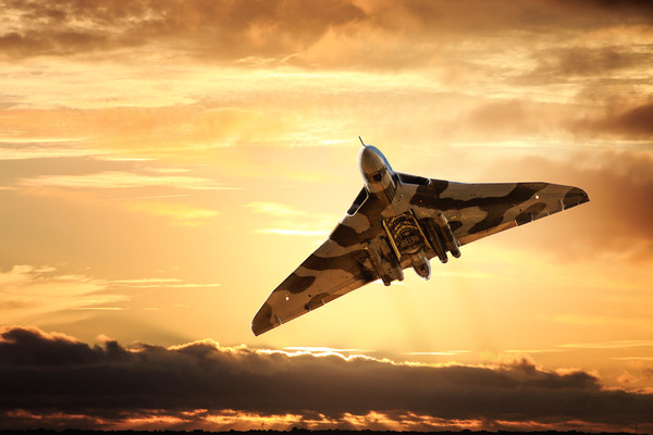 Vulcan bomber Canvas print by Guido Parmiggiani