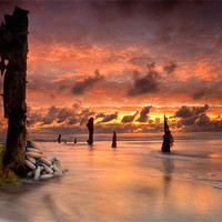 Buy canvas prints of Flotsam at Dawn by Keith Naylor