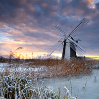 Buy canvas prints of Winter at Herringfleet by Keith Naylor