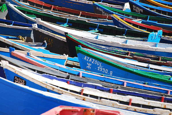Moroccon Fishing Boats Canvas print by Spenser Davies