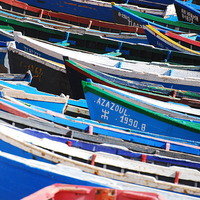 Buy canvas prints of Moroccon Fishing Boats by Spenser Davies