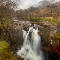 Buy canvas prints of Lower Falls, Ben Nevis by Ceri Jones