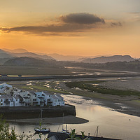 Buy canvas prints of Porthmadog Harbour at Sunrise by Ceri Jones