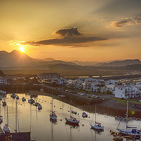 Buy canvas prints of Porthmadog Sunrise by Ceri Jones