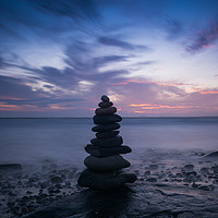 Buy canvas prints of A Pembrokeshire Sunset by Katie Mitchell
