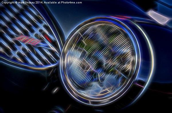 austin healey 3000 headlight  Canvas print by mark lindsay