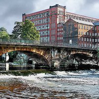 Buy canvas prints of EAST MILL ON RIVER DERWENT by len milner