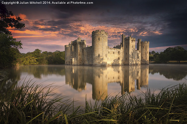 Bodiam Castle Canvas print by Julian Mitchell