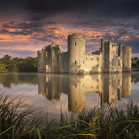 Buy canvas prints of Bodiam Castle by Julian Mitchell