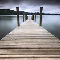 Buy canvas prints of Derwent Water Jetty by Julian Mitchell