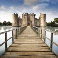 Buy canvas prints of Bodiam Castle by Julian Mitchell
