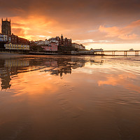 Buy canvas prints of Cromer sunset by Julian Mitchell