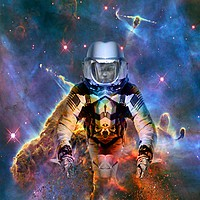 Buy canvas prints of Astronaut Disintegration by Matthew Lacey