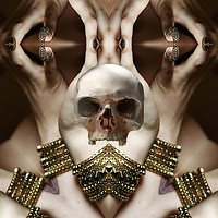 Buy canvas prints of Skull Magic by Matthew Lacey