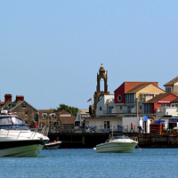 Buy canvas prints of Swanage Seafront & Clock tower   by jason williams