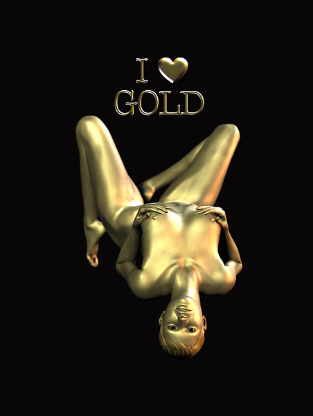 I Love Gold Canvas print by Patrick Giner